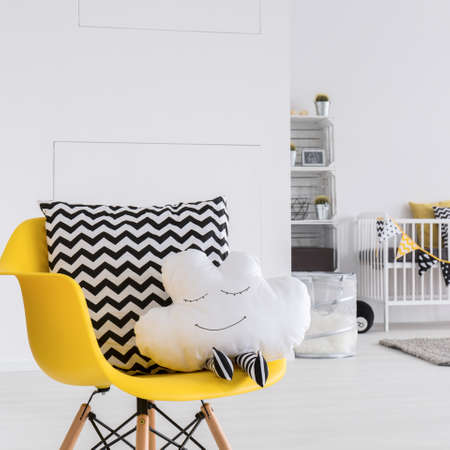 white door: Image of a spacious baby room