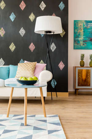 creatively: Shot of a creatively decorated modern living room Stock Photo