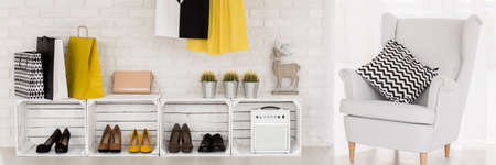 shoe boxes: Female DIY- shoe shelves from apple boxes or crates