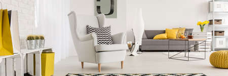 natural light: Stylish details in female cozy space arrangement idea Stock Photo
