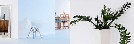 spacious: Panoramic photo of a spacious modern flat Stock Photo