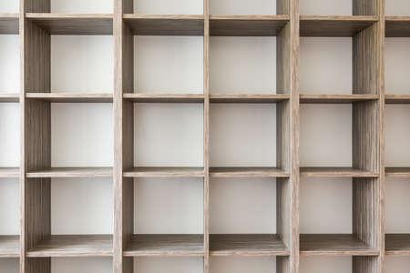 book racks: Close-up of big empty book shelves or rack