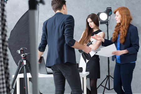 photo shoot: Shot of a photo shoot for a fashion magazine