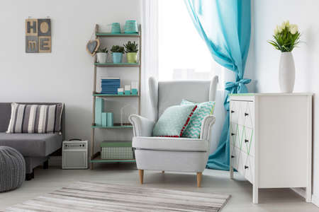 asleep chair: Shot of a cosy girls room interior designed in bright tones