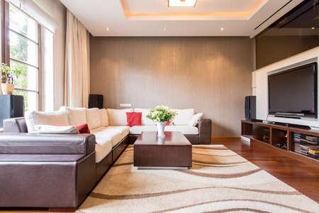 Modern sitting room in new luxury residence