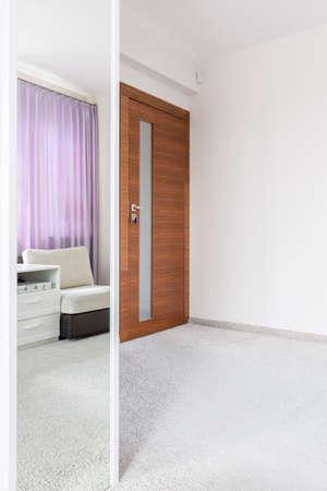 comfort room: Modern white interior in luxury new house