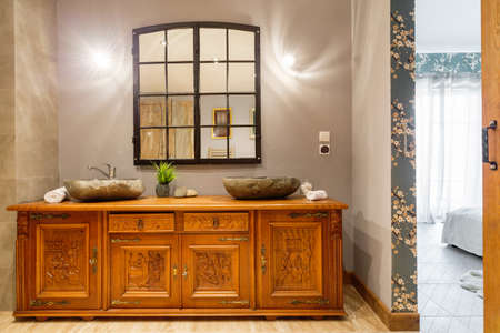 commode: Original home interior and stylish wooden carved commode