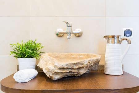 stone wash: Creative shape bathroom sink- stone marble wash basin