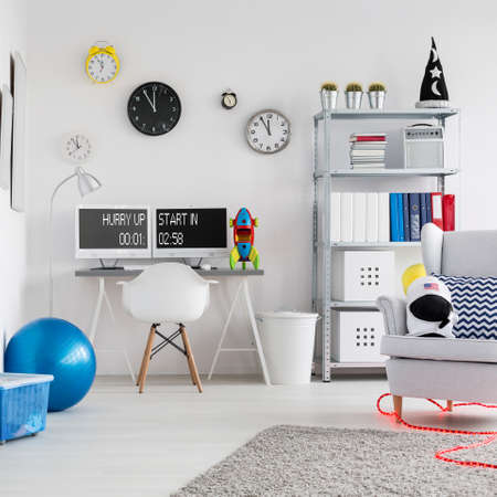 children play area: Shot of a modern creative space inspired room for children