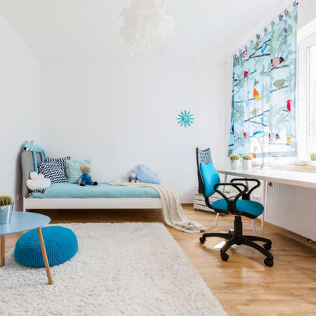 Shot of a spacious cosy childrens room Stockfoto