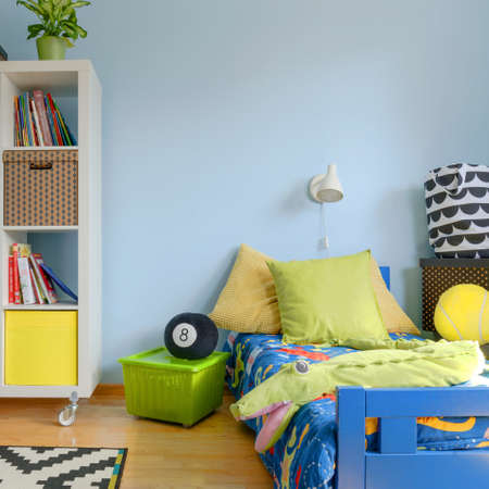 Shot of a colorful modern childrens room Stockfoto