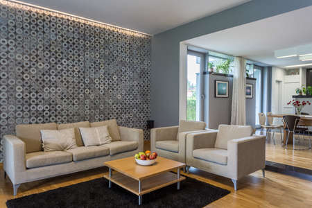 grey house: Moden house with grey and modern colours