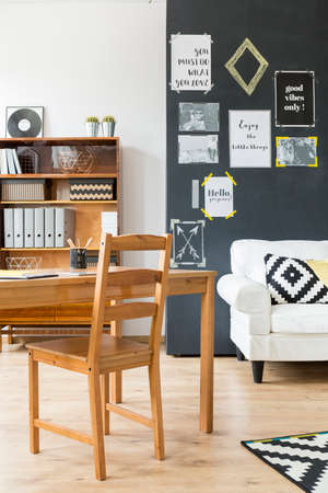 citations: Simple but pleasant design of a contemporary big citys apartment Stock Photo