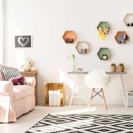 cosy: Shot of a modern creative room for children Stock Photo