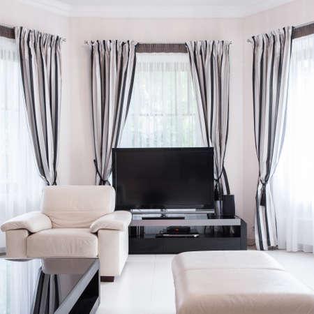 luxury room: Vertical view of luxury living room design