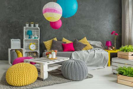 inspiring: Inspiring and handmade spacious teenager room makeover idea Stock Photo