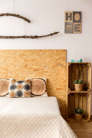 kingsize: Comfortable king-size bed in a cozy modern bedroom Stock Photo