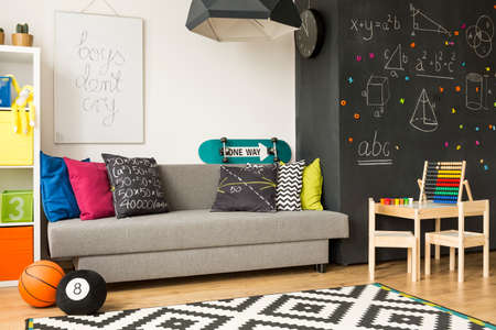 Colourful room with abacus for a whizz kid Stock Photo
