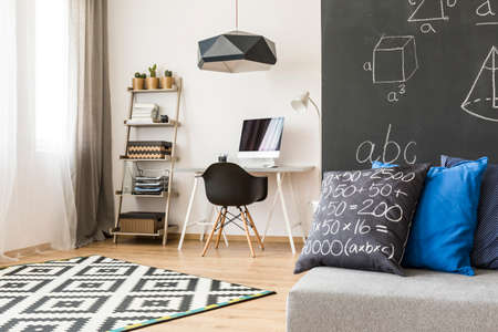 prodigy: Monochromatic room designed for a keen and young future mathematician
