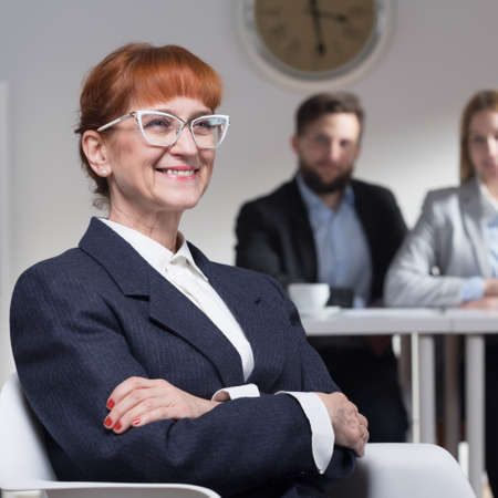 Mature woman applying for a job in corporation Stock Photo