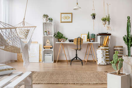 Multifunctioneel loft appartement met stijlvolle hangmat