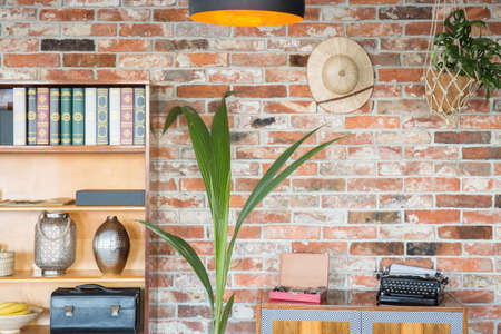 antique vase: Flat with wooden furniture and stylish antiques