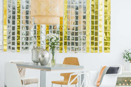 Elegant Room With Dining Room And Chairs Stock Photo, Picture And ...