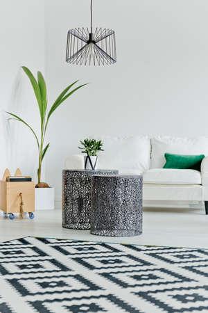 Scandinavian style in modern living room interior