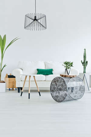 Spacious and modern flat in nordic style Stock Photo