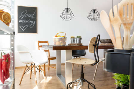 communal: Place for common meals with communal table