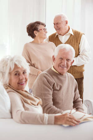 common room: Two older marriages meeting at day-care center