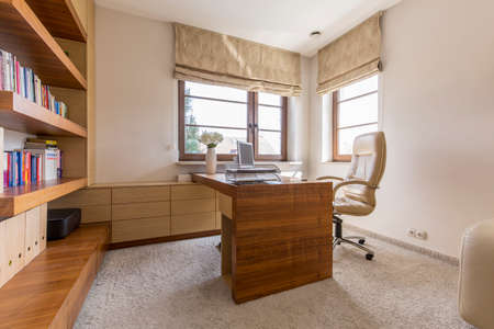 home office: Modern comfortable home office in luxury residence