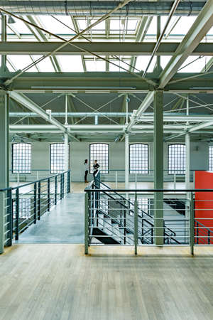 Warehouse Interior With Stairs And Roof Windows Stock Photo, Picture And  Royalty Free Image. Image 74001694.