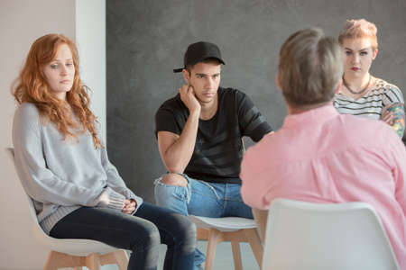 Young people with social issues during psychotherapy