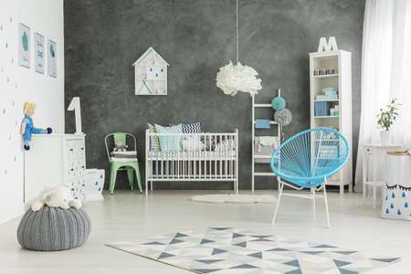 baby boys: White and nicely furnished baby boys room
