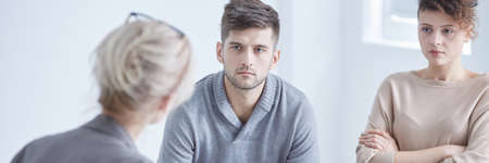 Relationship psychologist mediating young marriage thinking about divorce