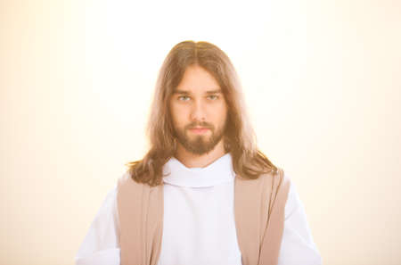 Jesus Christ standing in the light after resurrection