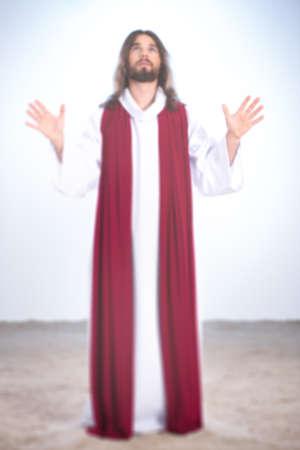 イエス キリストと砂の上に彼の手
