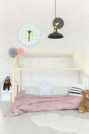 Light and airy nursery in calming soft colors and accessories