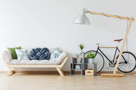 oversize: Bright and modern interior in scndinavian style
