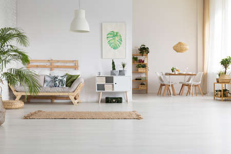 Nature and wood in modern home interior Reklamní fotografie