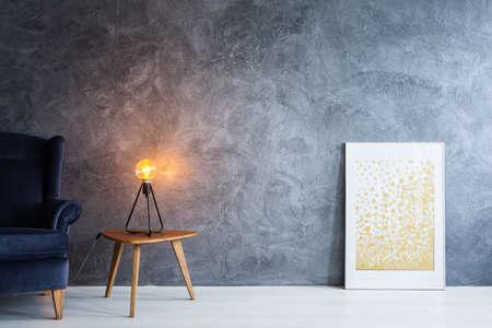 Interieur ideeën en tips: illustratie van de kamer met meubels en