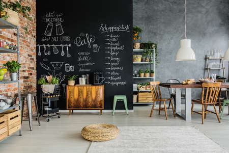 Fresh food and herbs in the kitchen Standard-Bild