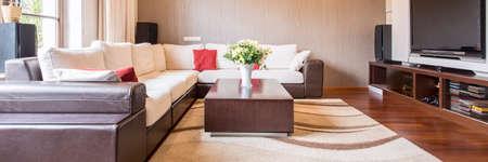 Large sofa in bright modern living room Stock fotó - 82091272