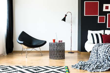 Espacio loft multifuncional y sofisticado con muebles de lujo Foto de archivo - 82086656