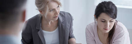 Grief counselor helps woman manage the loss of a loved one