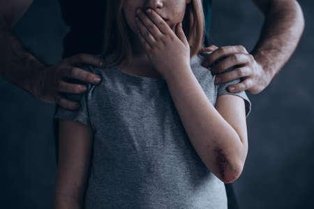 Children abuse is a crime don't be quiet about it Banque d'images