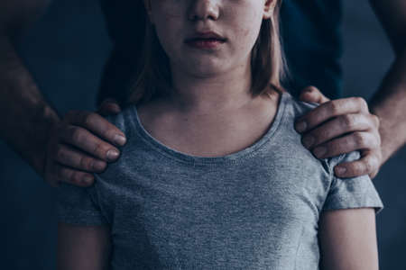 Abused little girl - heartbreaking social campaign photo