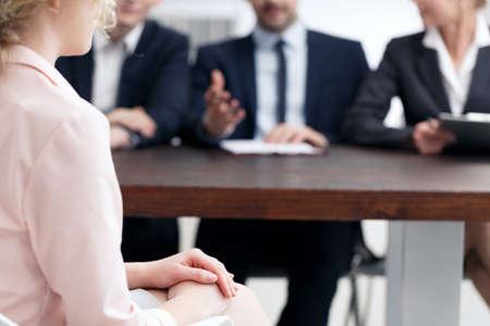 Solicitar una vacante en una gran corporación Foto de archivo - 82438177