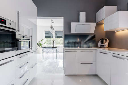 Modern and comfortable kitchen in a light house